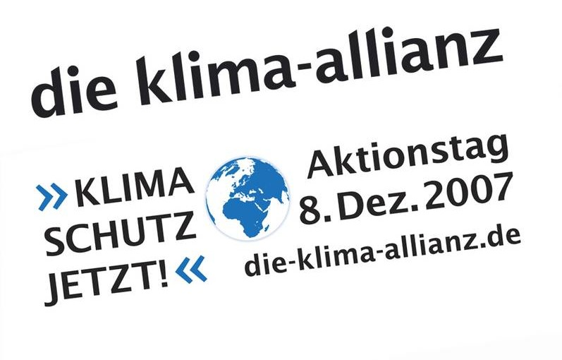 Aktionstag 8.12. – Klimaschutz jetzt!