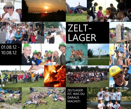 Zeltlager 2012: Jetzt anmelden!