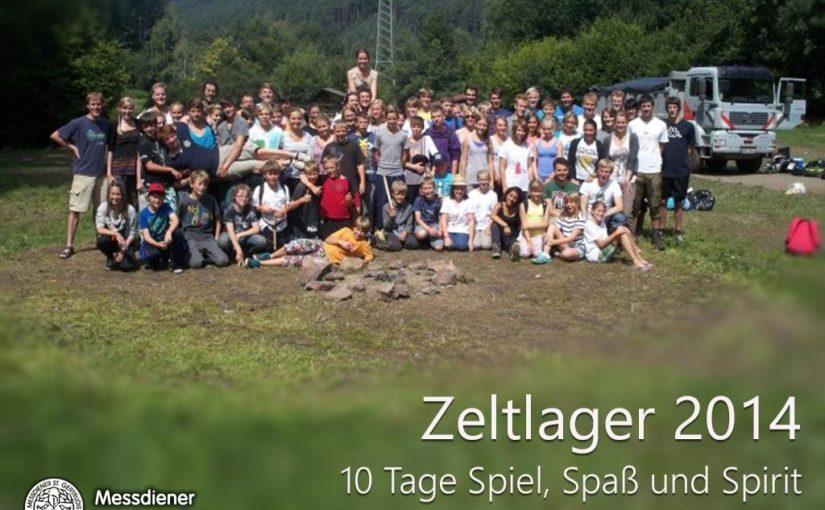 Terminankündigung: Zeltlager 2014