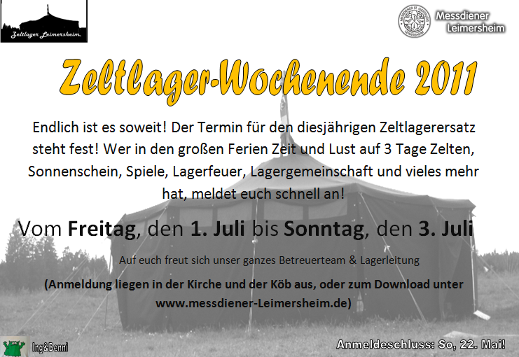 Zeltlager-Wochenende 2011