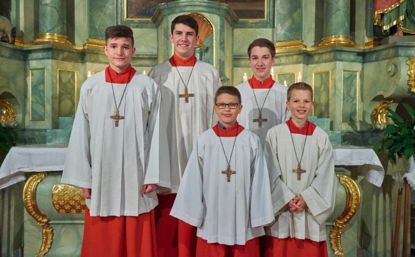 Drei neue Messdiener für St. Gertrud Leimersheim